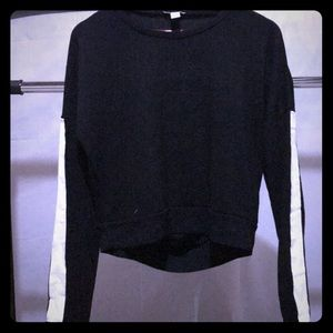 Forever21 long sleeve sweater with open back slits
